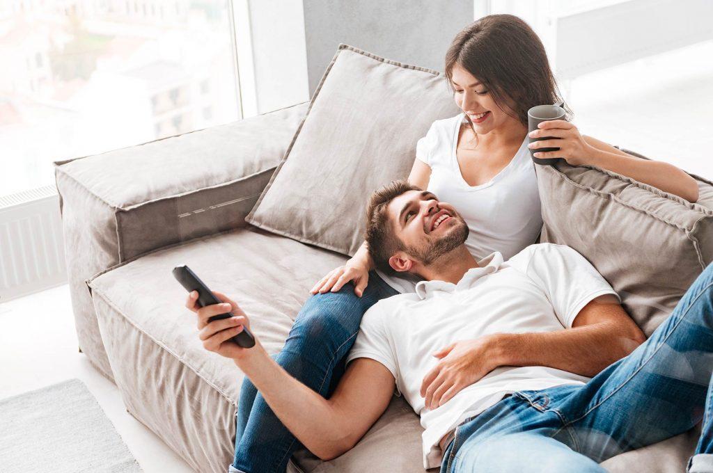 Boyfriend and Girlfriend dating happy